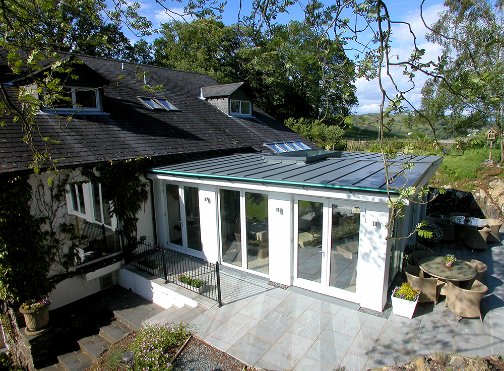 Timber patio doors created by AJ&D Chapelhow Ltd, from their base in Cliburn Cumbria