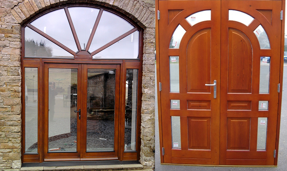 Double timber doors from AJ&D Chapelhow (Cliburn) Ltd