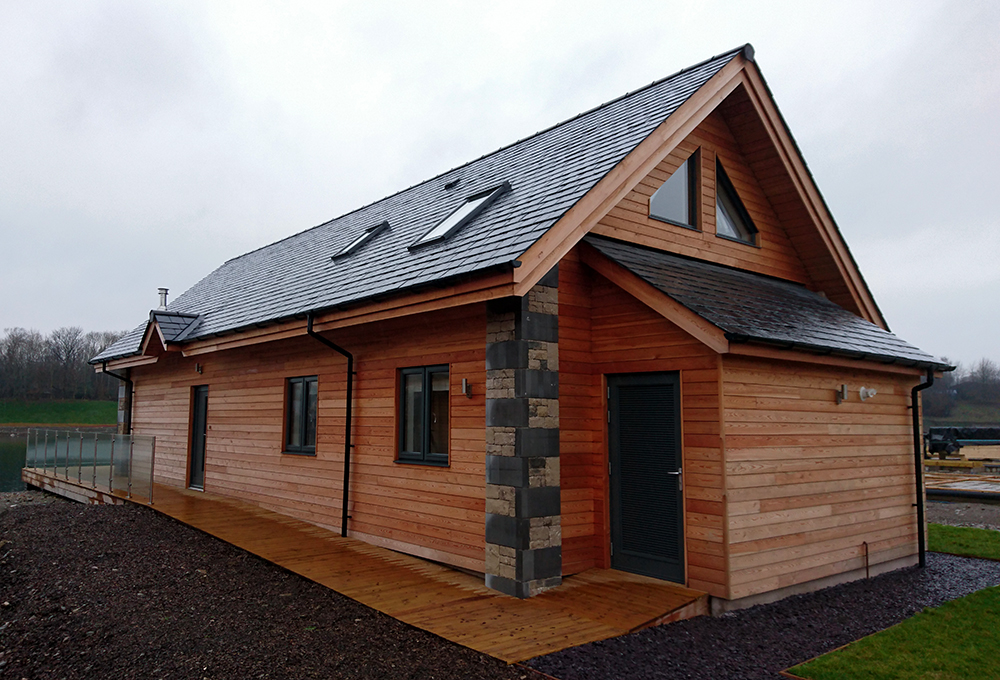 Timber windows for wooden lodge from AJ&D Chapelhow (Cliburn) Ltd