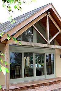 aluminium clad patio doors using lift and slide technolgy from ajd chapelhow