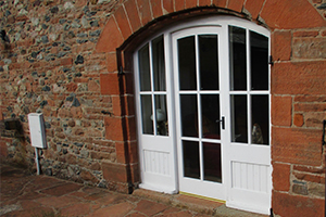 arched timber door and side lights by ajd chapelhow