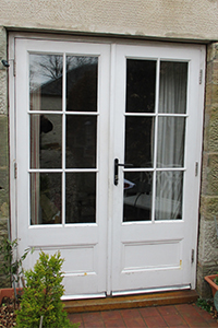 glazed putty pointed double timber doors from ajd chapelhow