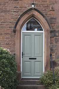single timber door with glazed arch from ajd chapelhow
