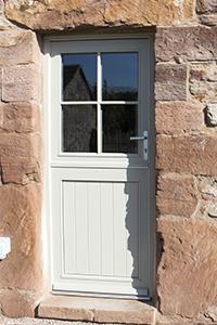 single wooden door with 4 pane upper from ajd chapelhow