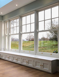 shaped timber sliding sash windows by AJ&D Chapelhow